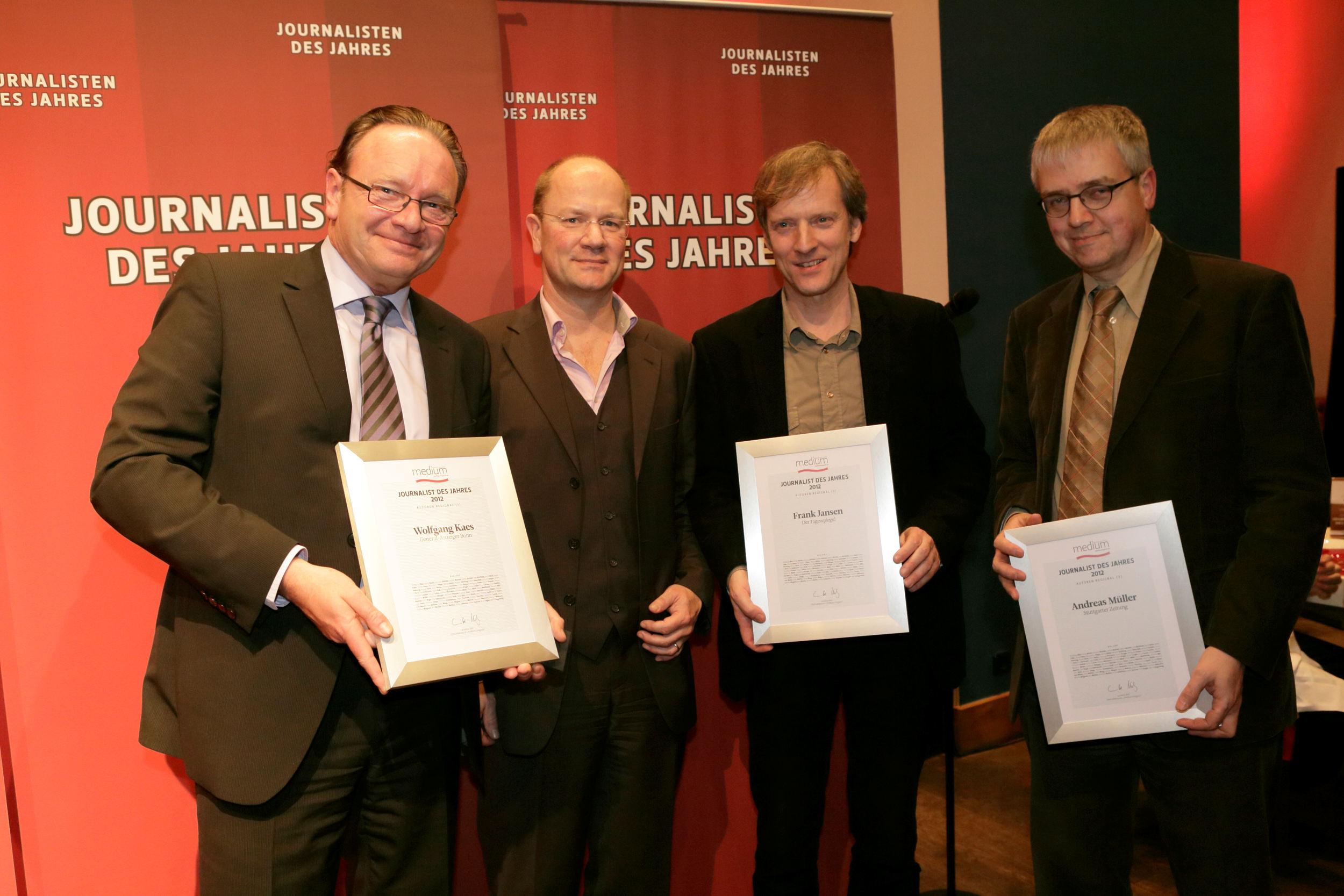 Wolfgang Kaes (Bonner Generalanzeiger), Autor (regional) des Jahres 2012