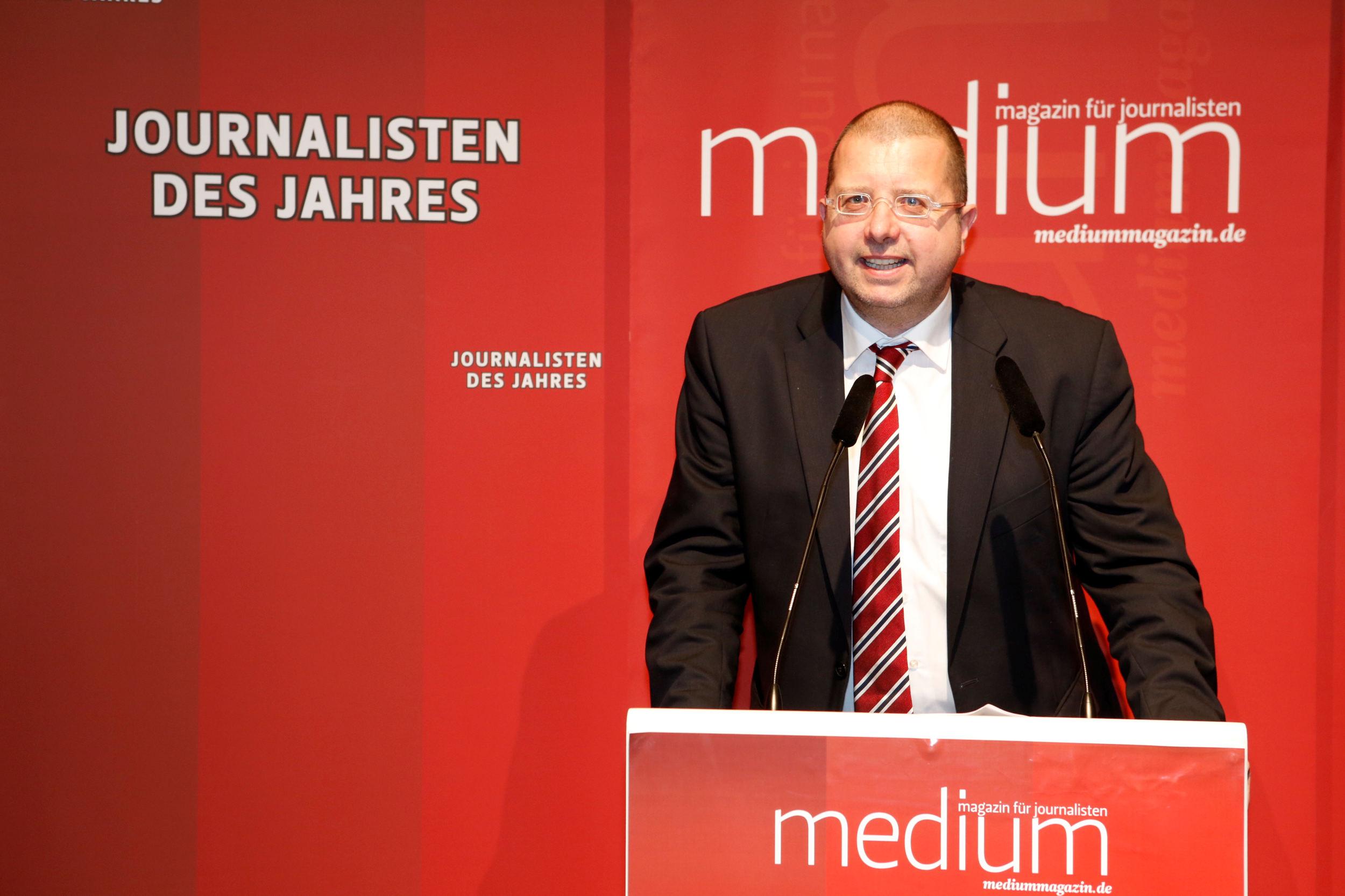 Joachim Braun (Nordbayerischer Kurier, Bayreuth), Chefredakteur lokal des Jahres 2012