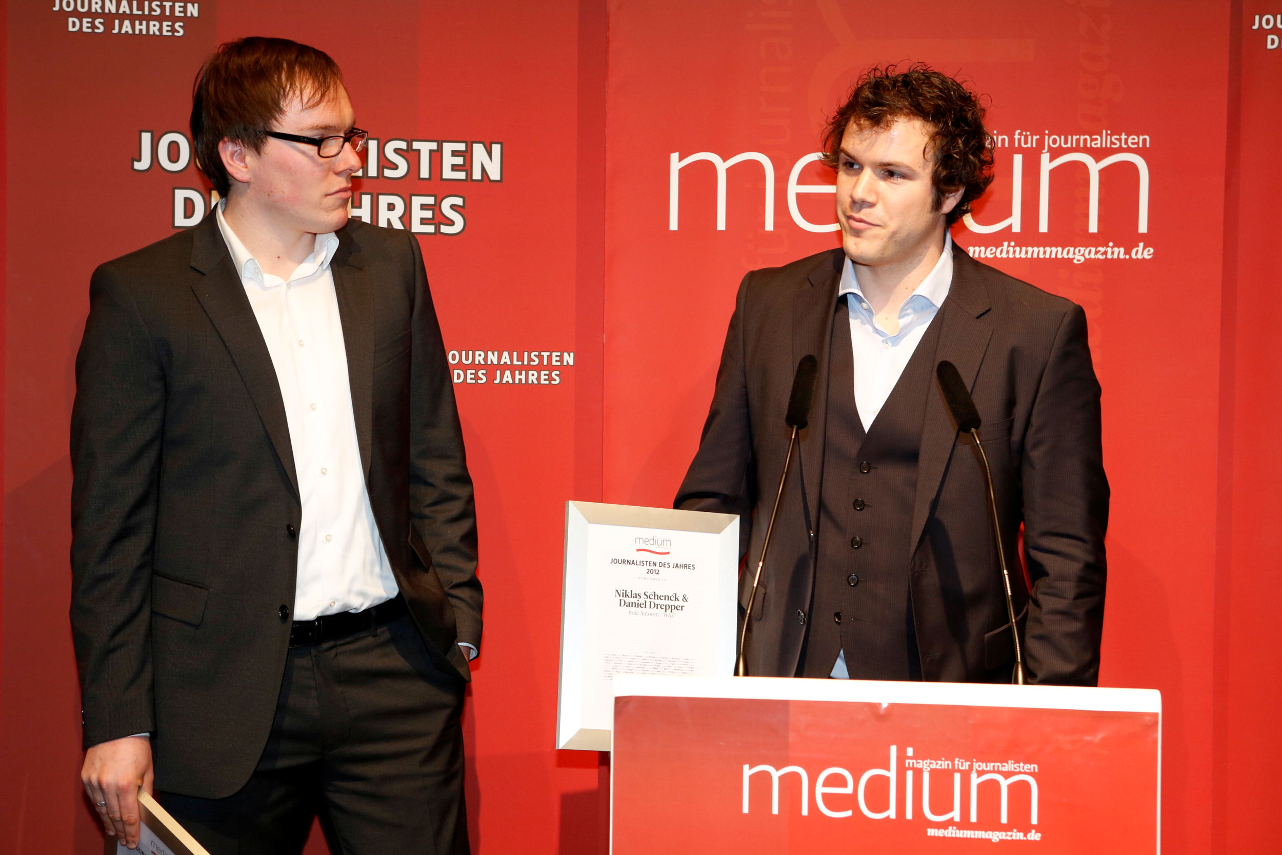 Daniel Drepper und Niklas Schenck, Newcomer des Jahres 2012