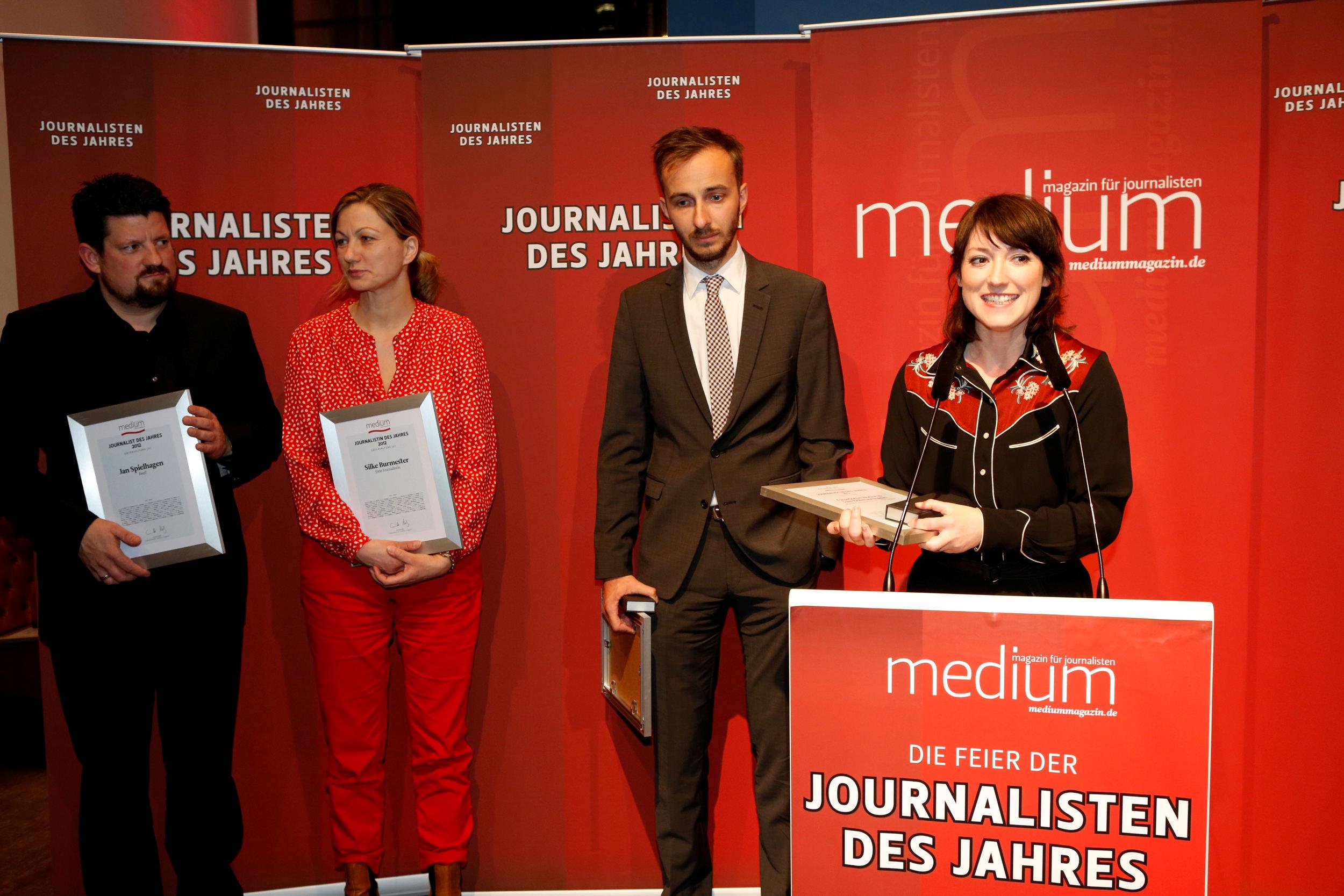 Charlotte Roche und Jan Böhmermann, Unterhaltungsjournalisten des Jahres 2012