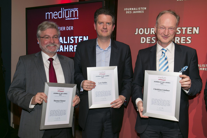 Christian Lindner (rechts) ist der beste regionale Chefredakteur 2013