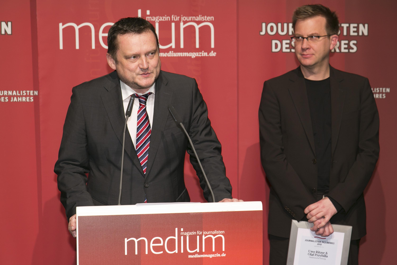 Olaf Przybilla und Uwe Ritzer von der SZ sind die Reporter des Jahres 2013