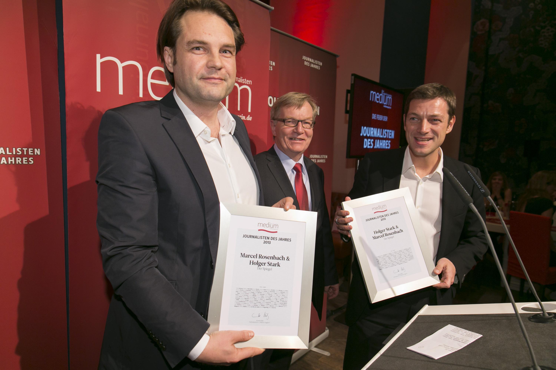 Marcel Rosenbach, Laudator Bernd Gäbler, Holger Stark