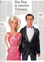 """""""Ken & Barbie Guttenberg"""" wie sie am 2.1.2011 in der FAS illustriert wurden"""