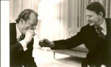 Klaus Harpprecht mit dem damaligen Bundeskanzler Willy Brandt, Anfang der 70er. Foto: privat
