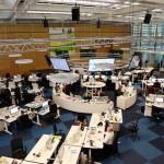 """Der neues Newsroom der """"Welt""""-Gruppe in der Berliner Verlagszentrale. Foto: M.U.K. Lengemann"""