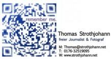 Der Code von dieser Visitenkarte führt direkt zu Website des Autors.