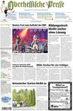 """Der """"duftende"""" Zeitungstitel der Oberhessischen Presse zum WM-Start"""