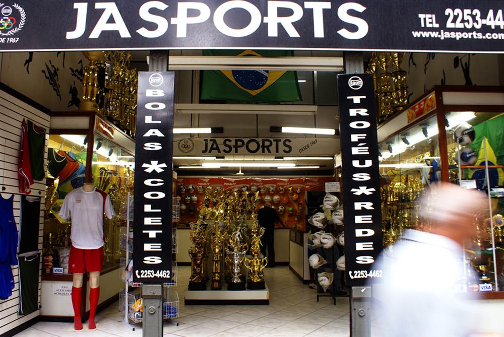 Ein Sportladen in Rio.