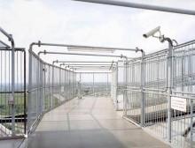 Die Aussichtsplattform dieses Gasometers versperrt die freie Sicht