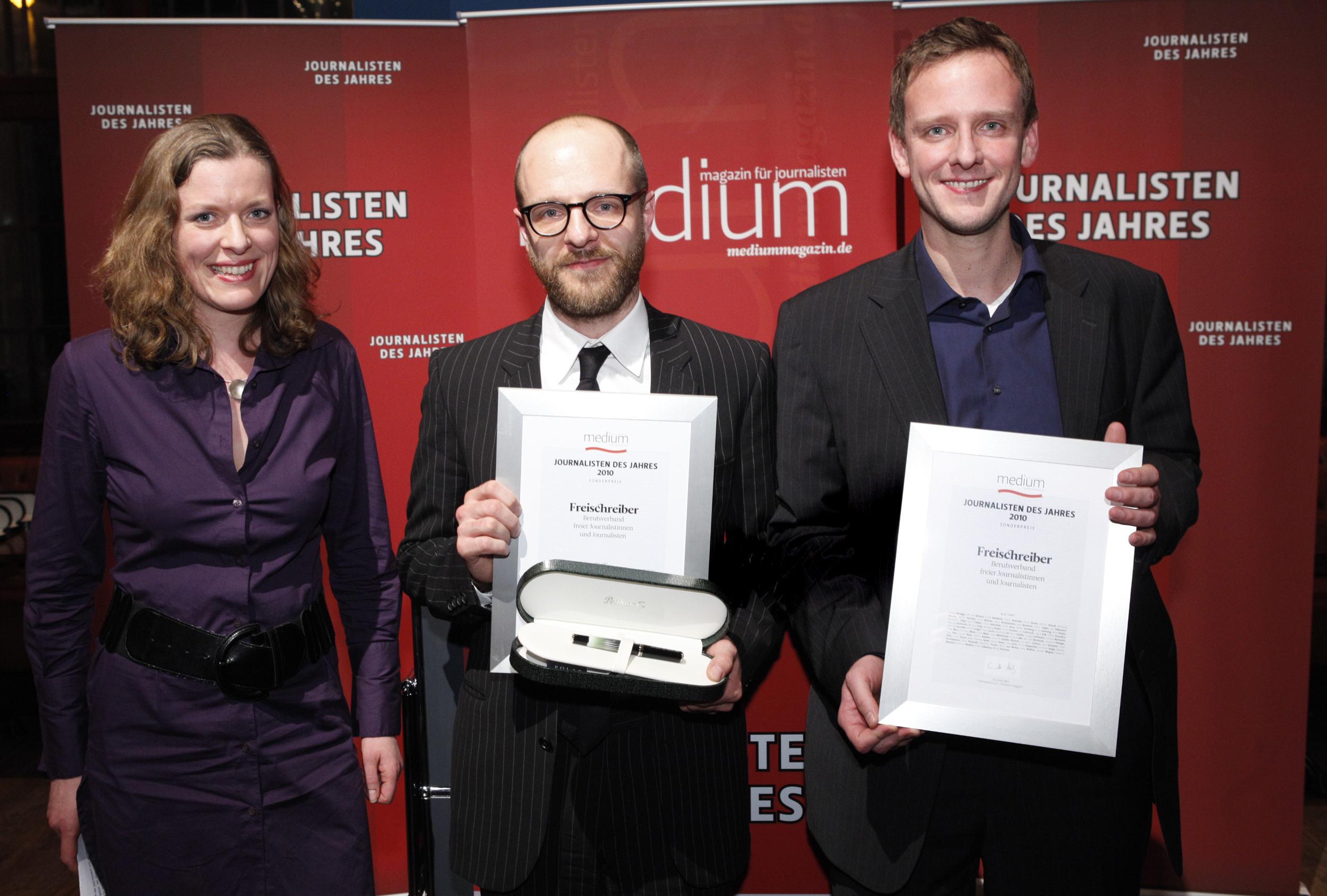 """DEU, Berlin, 7.02.2011, medium magazin, Preisverleihung an die """"Journalisten des Jahres 2010"""", Cafe im Zeughaus im Deutschen Historischen Museum, Julia Stein (Redaktionsleiterin """"Zapp""""),  [ (c) Wolfgang Borrs, Wiener Str. 11, D-10999 B e r l i n, Mobile +49.171.5332491, www.borrs.de, mail@borrs.de; ]"""
