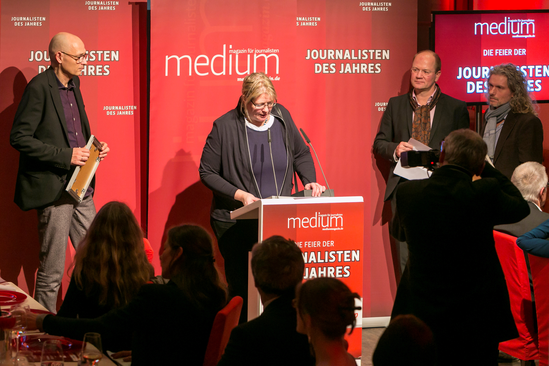 Kaija Kutter bedankte sich für ihre Auszeichnung zur Regional-Reporterin 2013.